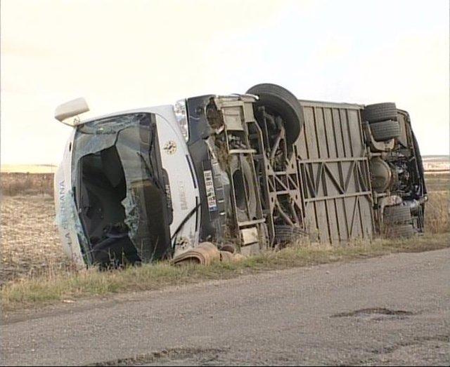 Autobús Accidentado Esta Mañana En Huerta (Salamanca), Con 19 Heridos