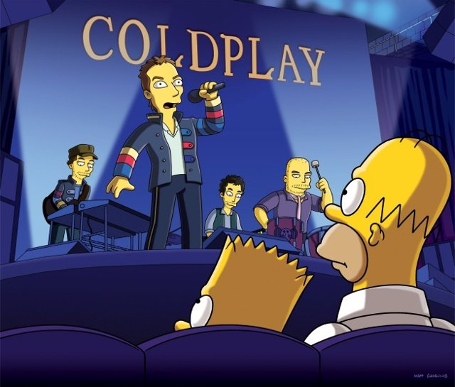 Cold Play En Los Simpsons