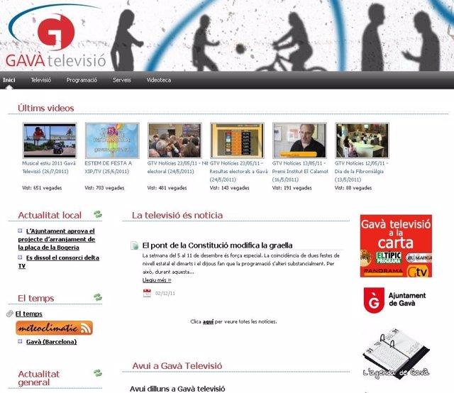 Página Web De La Televisión Gavà Televisión