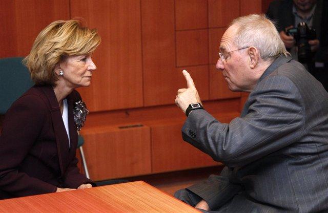 Salgado (España) Y Schaeuble (Alemania) En El Ecofin