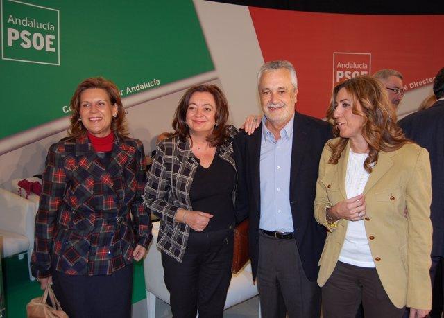 Jose Antonio Griñán, Rosa Torres, Mar Moreno Y Susana Díaz