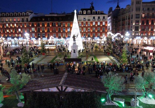 Iluminación Navideña En La Plaza Mayor.