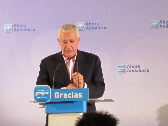 Javier Arenas En El Comité Provincial Del PP De Almería