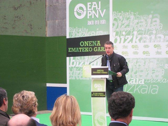 El Presidente Del PNV, Iñigo Urkullu, Durante Un Acto Político.