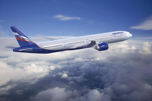 Avión De La Compañía Aeroflot