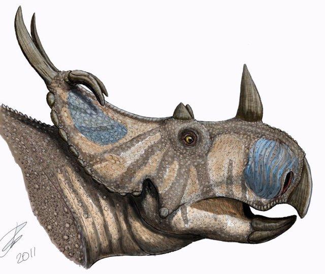 Dinosaurio Con Cuernos
