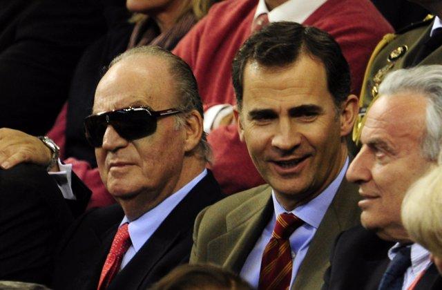 El Rey Don Juan Carlos Y El Principe Felipe En La Copa Davis