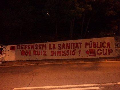 El Ayuntamiento de Barcelona borra un mural que pedía la dimisión de Boi Ruiz