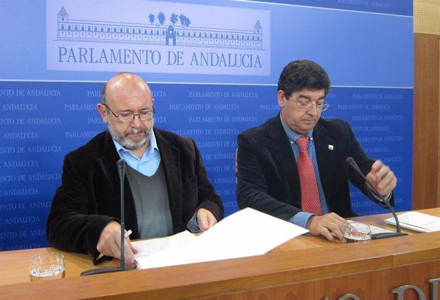Ignacio García Y Diego Valderas, En Rueda De Prensa