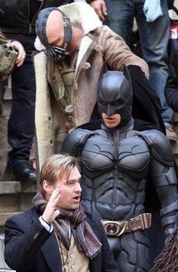 Christopher Nolan Con Christian Bale Y Tom Hardy En Batman El