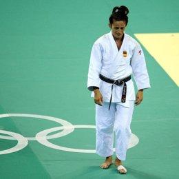 Isabel Fernandez, triste tras perder el bronce