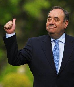 El Ministro Principal Y Líder Del Partido Nacionalista Escocés, Alex Salmond