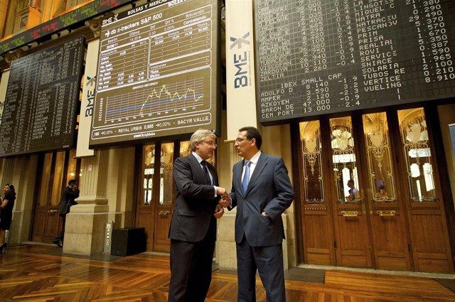 Enrique Goñi Y Antonio Pulido En El Proceso De Salida A Bolsa