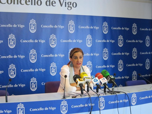 Carmela Silva En Rueda De Prensa En Vigo