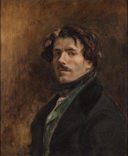 'Autorretrato Con Chaleco Verde' De Delacroix