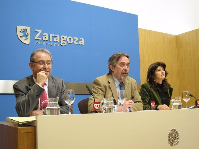 Fernando Gimeno, Juan Alberto Belloch Y Carmen Dueso