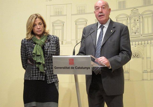 La Vicepresidenta Del Govern, Joana Ortega, Y El Síndic D'aran, Carles Barrera