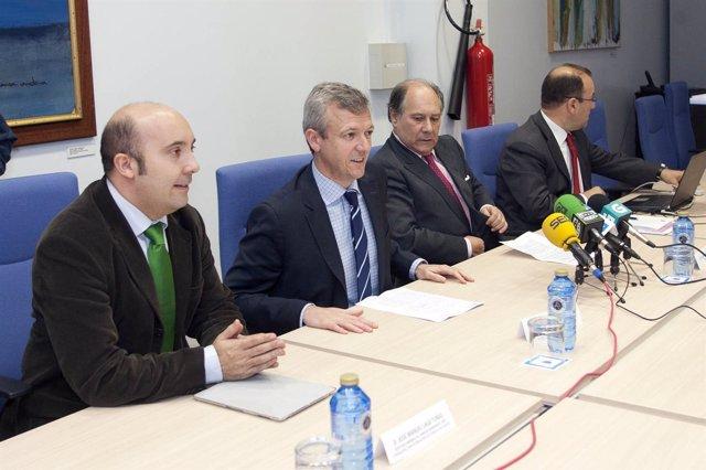 O Conselleiro De Presidencia, Alfonso Rueda, Con El Conselleiro Maior De Contas.