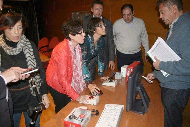 Ana Navarro Y Marta Rueda En La Presentación De La Orden De Incentivos Para TIC
