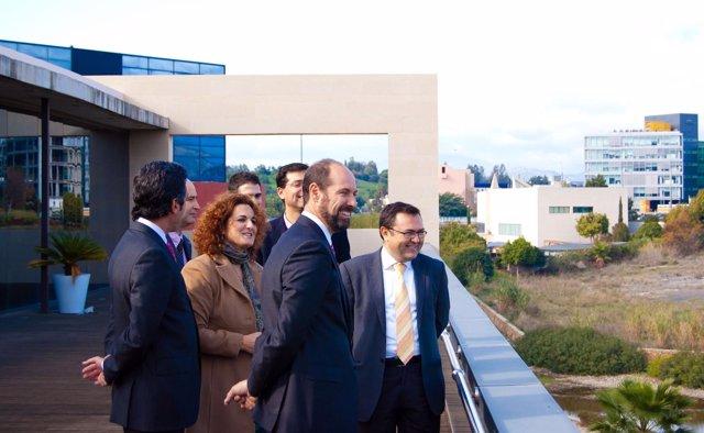 Heredia Y Serrano Junto A Empresarios Del PTA
