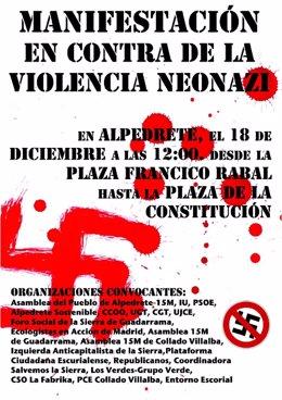 Cartel Contra Neonazis Alpedrete