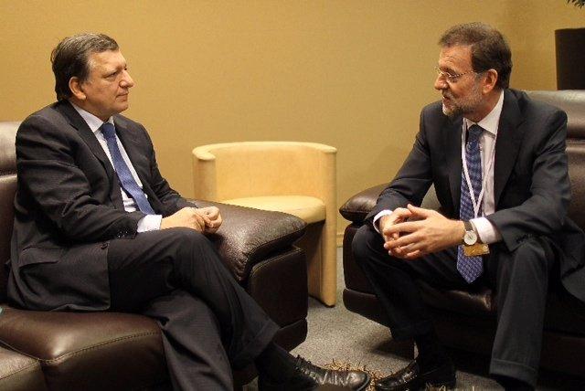 Mariano Rajoy Y Durao Barroso