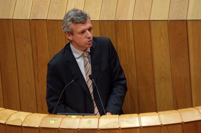 Alfonso Rueda, En Una Intervención En El Parlamento