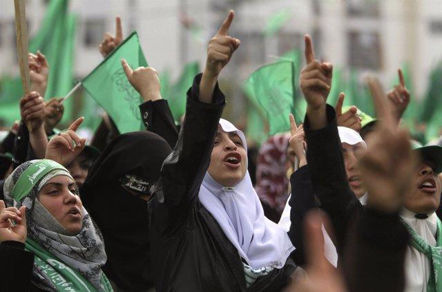 Seguidoras Del Movimiento Islámico Hamás En La Franja De Gaza