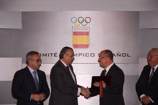 Jose Luis Saez Y Alejandro Blanco, Entrega De Premios Del Coe