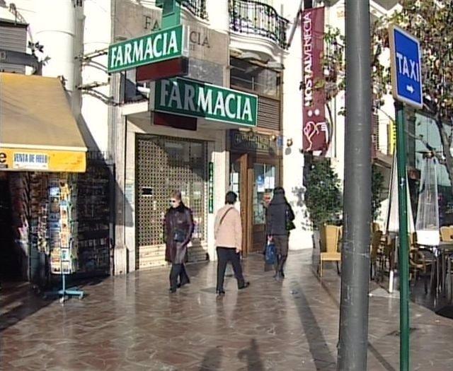 Farmacia Cerrada en la Plaza del Ayuntamiento de Valencia