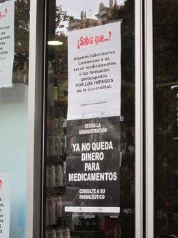 Impagos A Las Farmacias Valencianas