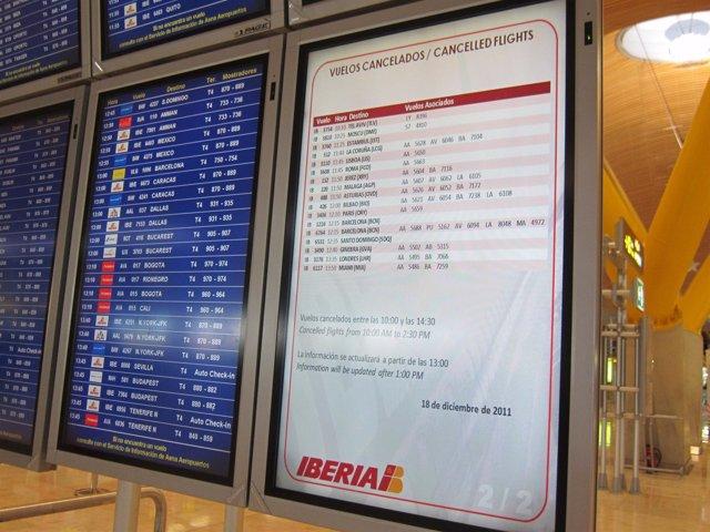 Paneles Informativos Por La Huelga De Iberia