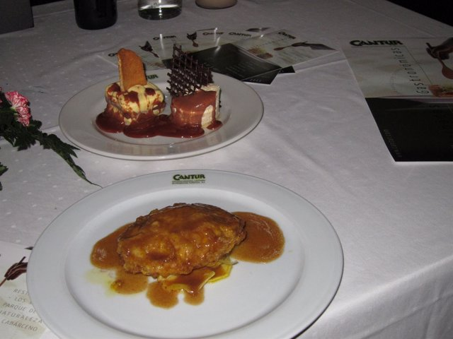 Comida servida en un Restaurante