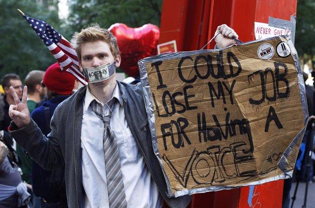 Manifestante De Occupy Wall Street