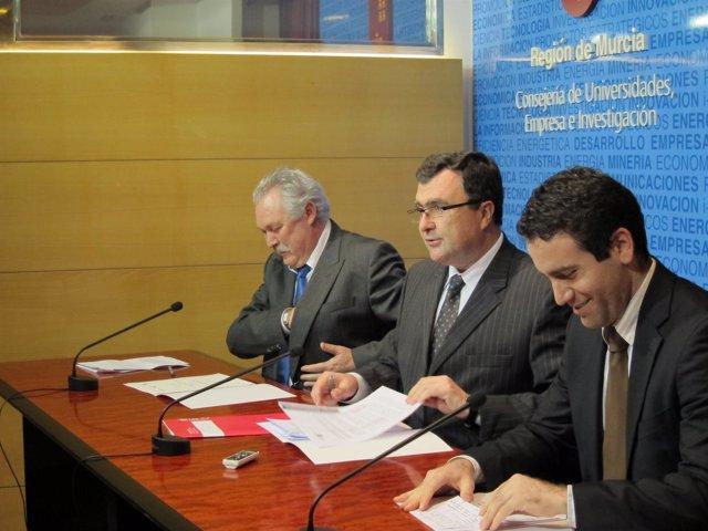 Soria, Ballesta Y García En La Rueda De Prensa