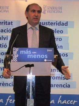 El Conseller De Economía, Industria Y Comercio, Enrique Verdeguer.