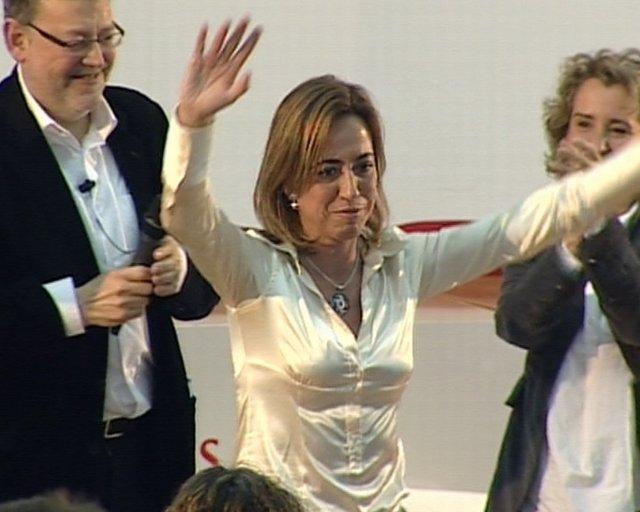 Carme Chacón, Durante Un Acto En Valencia