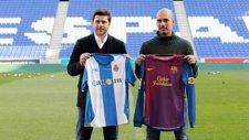 Pochettino Y Guardiola Antes Del Derbi Catalán