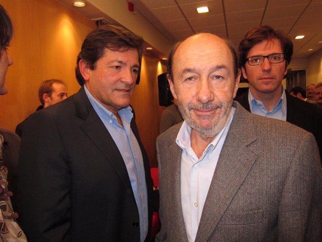 Pérez Rubalcaba, Javier Fernández  Y Juan Moscoso