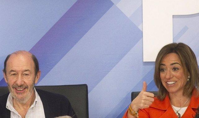 Chacón Y Rubalcaba En El Comité Federal Del PSOE Enero 2011