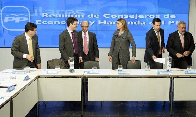 REUNION CONSEJEROS ECONOMIA Y HACIENDA DEL  PP