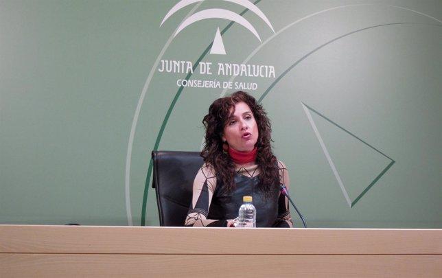 La Consejera De Salud, María Jesús Montero, En Un Momento De La Rueda De Prensa