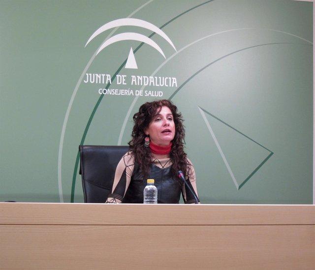 La Consejera Andaluza De Salud, María Jesús Montero, En Rueda De Prensa