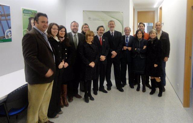 Ávila En La Inauguración Del CADE De Alcaudete (Jaén).
