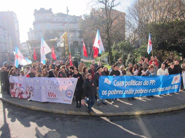 Concentración De Delegados De La CIG En Santiago