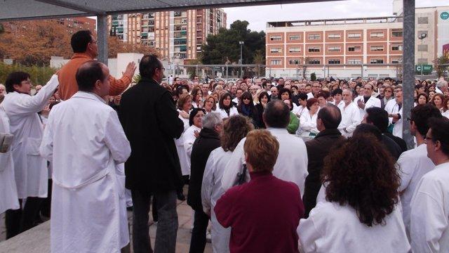 Concentración De Trabajadores Del Hospital General