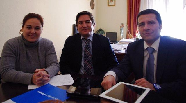 Alcaldesa Algarrobo, Natacha Rivas (PA), Bernal, Y Pte Mancomunidad Oriental