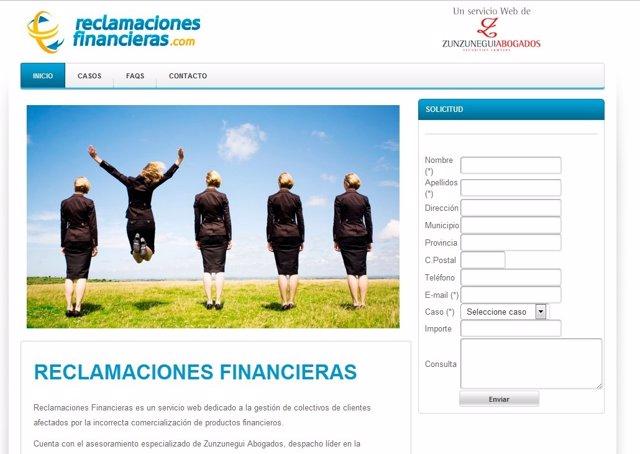 Página Web Reclamacionesfinancieras.Com
