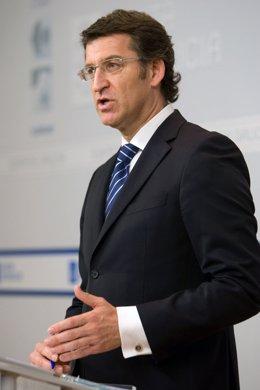El Presidente Alberto Núñez Feijóo Tras El Consello De La Xunta