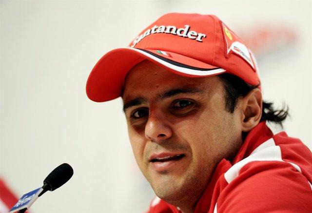 El Piloto Brasileño Felipe Massa